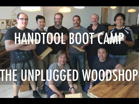 HAND TOOL BOOT CAMP at the Unplugged Woodshop Toronto