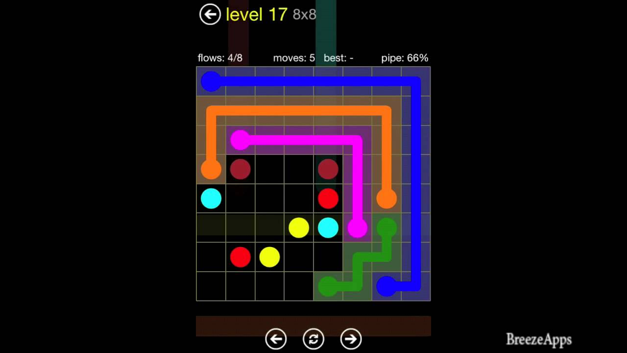 Walkthrough 8x8 Level 17 Flow Free For Android
