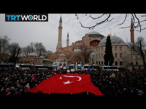 New Zealand Terror Attack: Funeral prayers offered outside Hagia Sophia