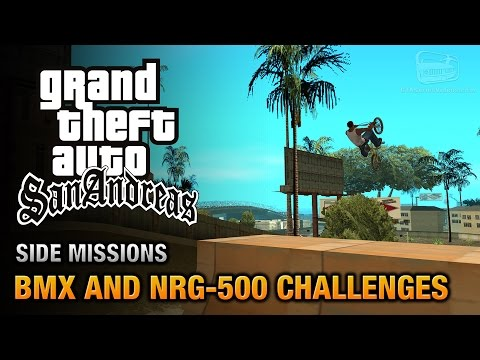 GTA San Andreas - BMX and NRG-500 Challenges [Bike or Biker? Trophy / Achievement]