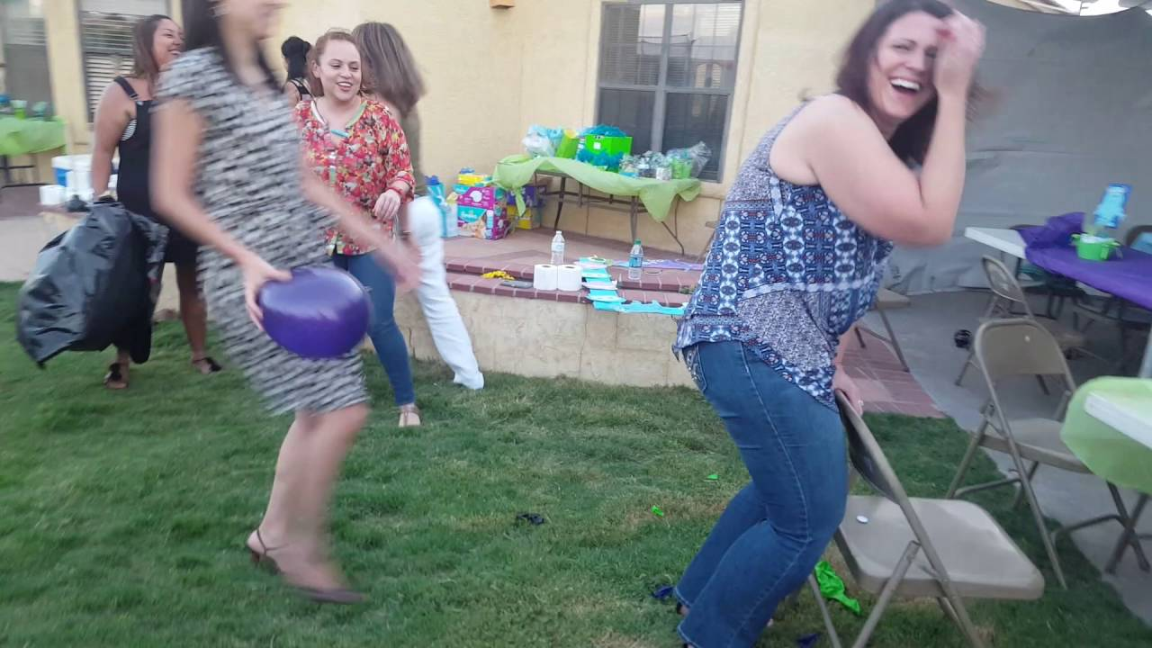 Hilarious Coed Baby Shower Game Youtube