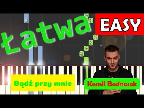 🎹 BĄDŹ PRZY MNIE (Kamil Bednarek) - Piano Tutorial (łatwa wersja) 🎹
