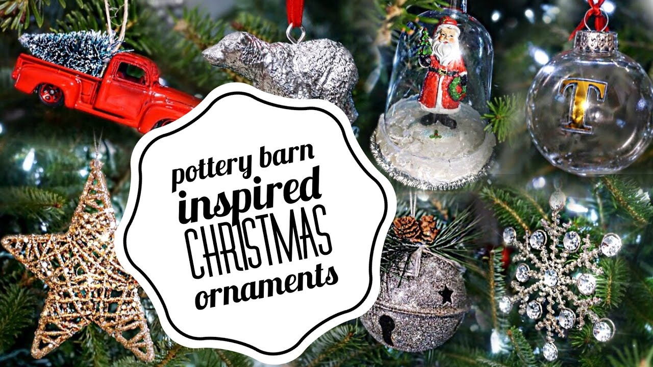 diy christmas decorations ornaments pottery barn inspired vlogmas beeisforbudget - Barn Christmas Decorations