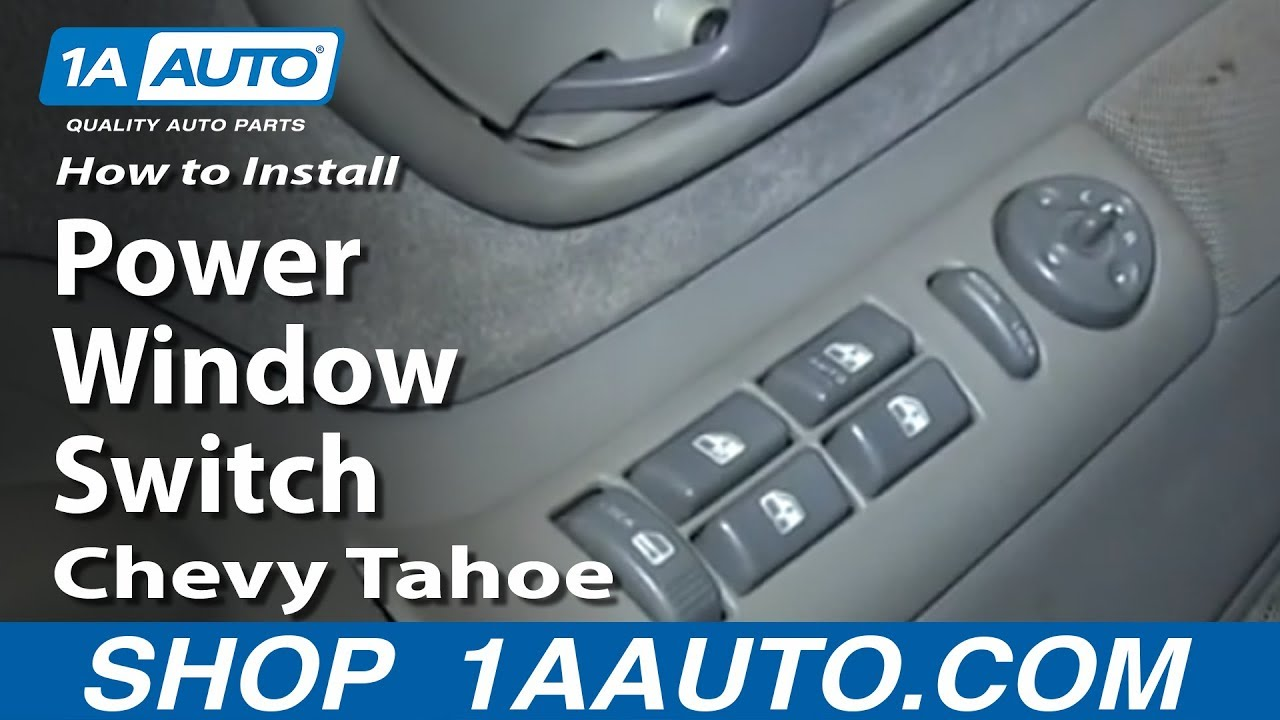 How To Install Replace Master Power Window Switch 199599 Chevy – Light Wiring Diagram 95 Tahoe