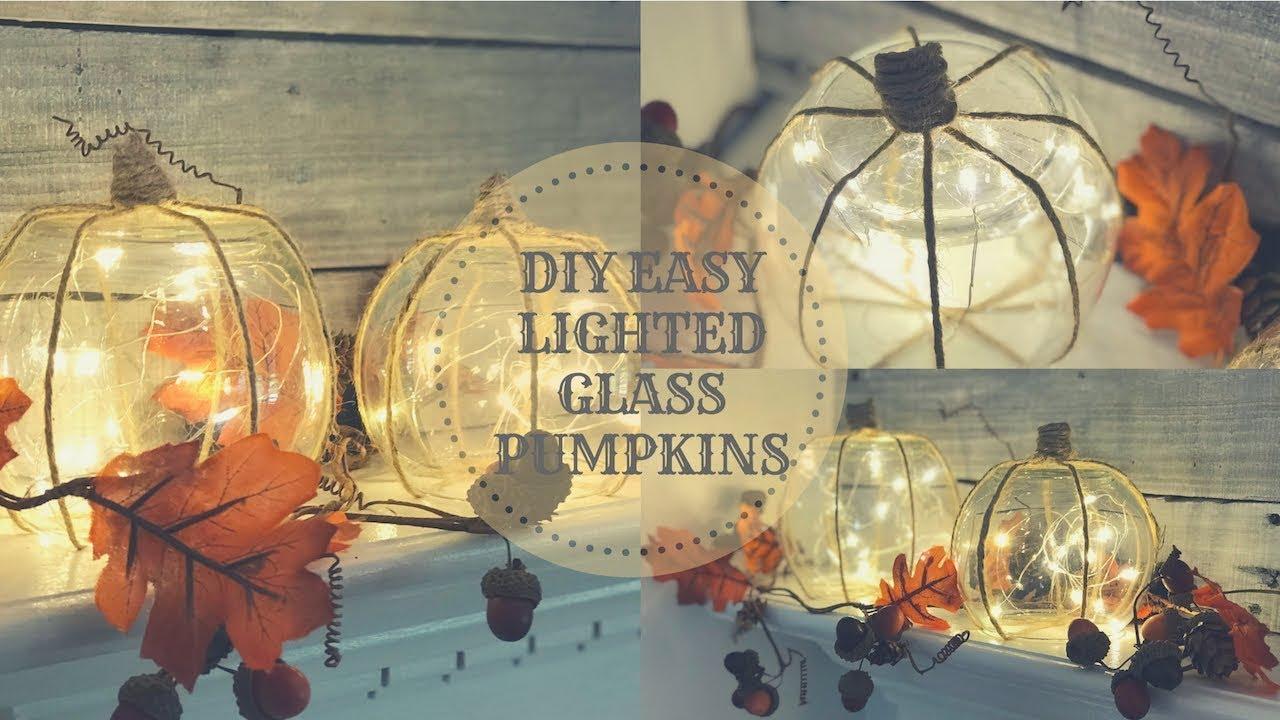 Lighted Gl Pumpkins Easy Fall Decor
