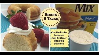 Rico Pastel De  5 Tazas Con Harina De Pancakes - Madelin's Cakes