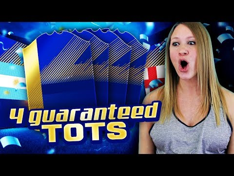 4 GUARANTEED TOTS PLAYERS IN A PACK!! FIFA 18 ULTIMATE TEAM