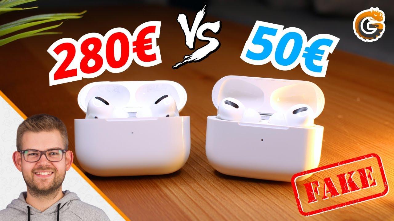 50 Airpods Pro Lohnt Sich Das Fake Vs Original Youtube