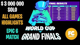 Fortnite World Cup Finals SOLO - Day 3 - All Game Highlights [Fortnite World Cup NYC Highlights]