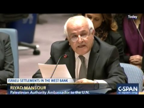 U.N. Security Council Resolution On Illegal Israeli Settleme