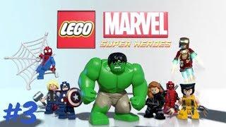 LEGO Marvel Super Heroes Gameplay Walkthrough - Part 3 Dr Octopuss Part 1  (Let