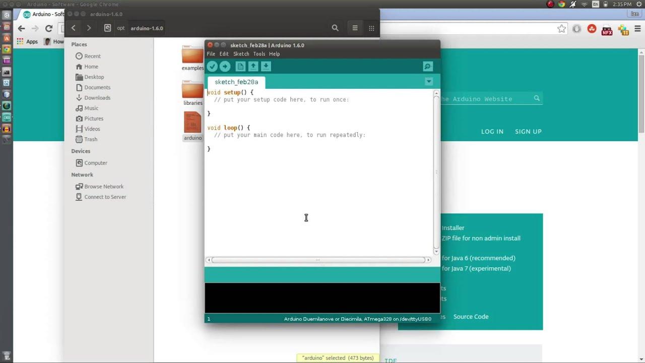 Getting started with arduino installing on ubuntu