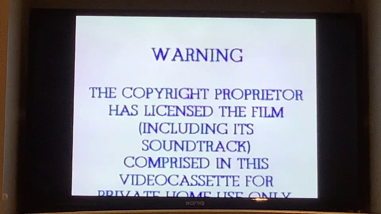 Opening To The Wizard Of Oz 1999 VHS Australia