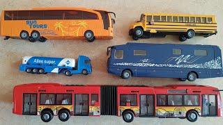 Bus Long four-door Bus with school Bus, Mobil Bus unboxing