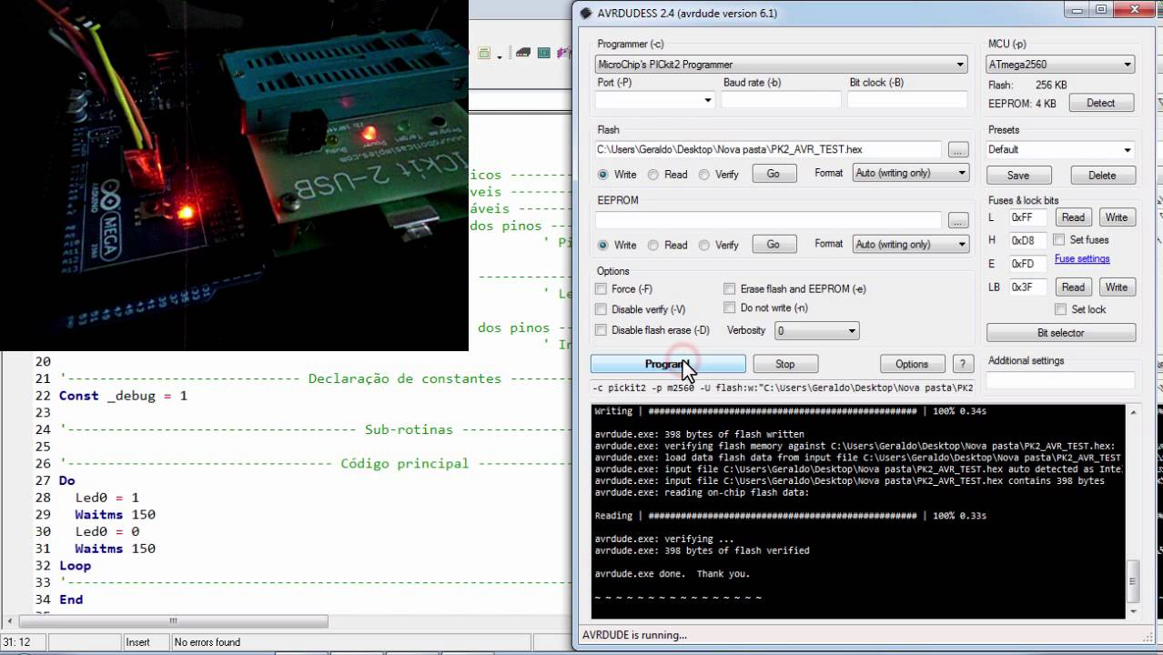 Programming Avr Microcontroller With Pickit 2 By Grob Fpv Original Programmer