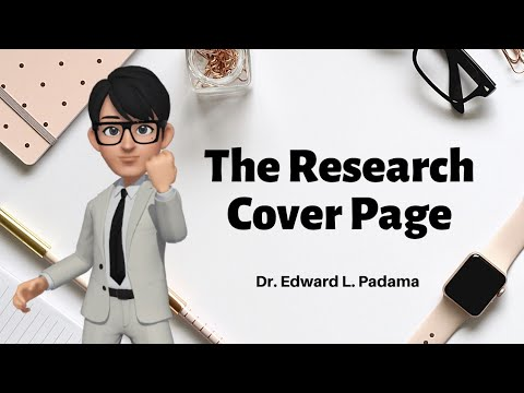 How To Write The Research Cover Page  (video 3)