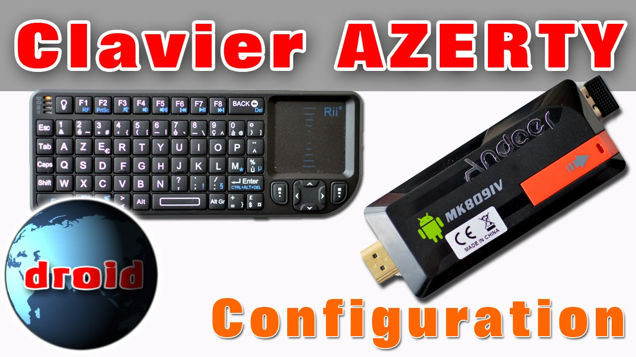 cl usb android tv mk809iv et mini clavier sans fil configuration azerty youtube. Black Bedroom Furniture Sets. Home Design Ideas