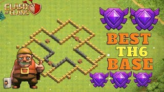 New Best TH6 Base 2019 With REPLAY!! COC TH6 Tropy/War Base Layout   CLASH OF CLANS