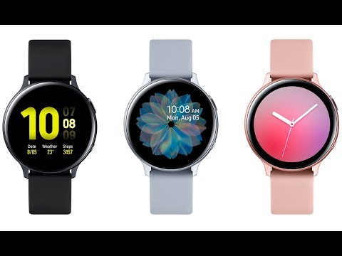 Samsung Galaxy Watch Active 2 оснастили сенсорным безелем и функцией ЭКГ