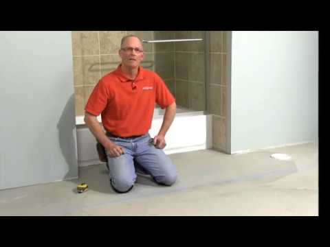 How to Layout a Tile Floor - YouTube