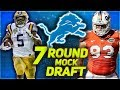 DETROIT LIONS 2018 MOCK DRAFT   Lions Draft 3 FIRST Rounders -- Wait, What?!