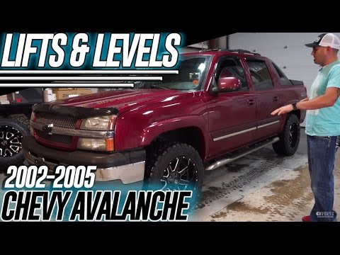 Lifts  Levels Chevy Avalanche 20012006 Leveling Kit  YouTube