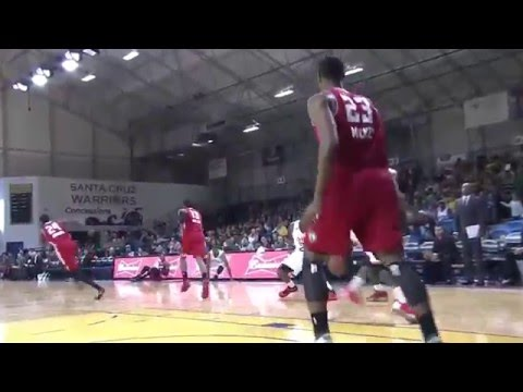Jordan Mickey SWITCHES HANDS to block the shot!?
