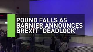 Pound plummets as Brexit negotiations reach