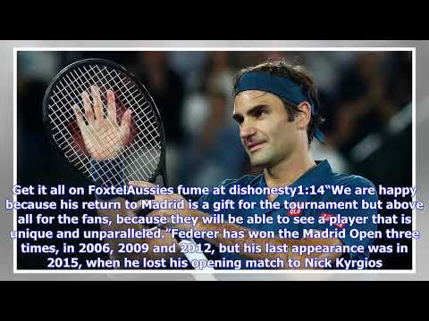 Roger Federer to include Madrid Open in claycourt comeback
