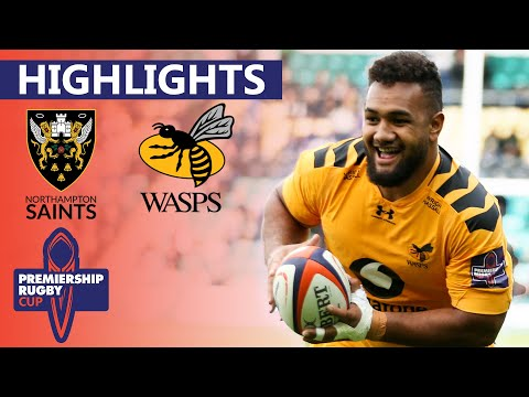 Northampton V Wasps | Wasps Aim For Comeback Against Reigning Champs | Premiership Cup - Highlights