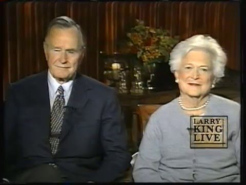 President George Bush and Barbara Bush on Larry King 6-9-2004 Full Hour