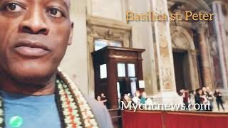 Yombo visits the Saint Peter Basilica at the Vatican city