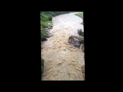 Bagmati river flow of water after night full rain