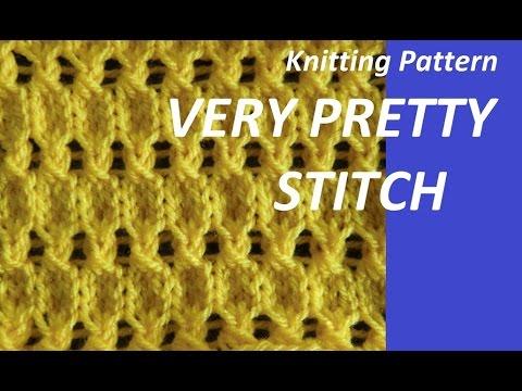Knitting Pattern * PRETTY STICH *