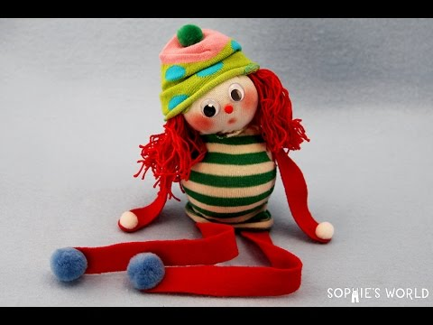 """How to Make an """"Elf on a Shelf"""" Sock Doll 