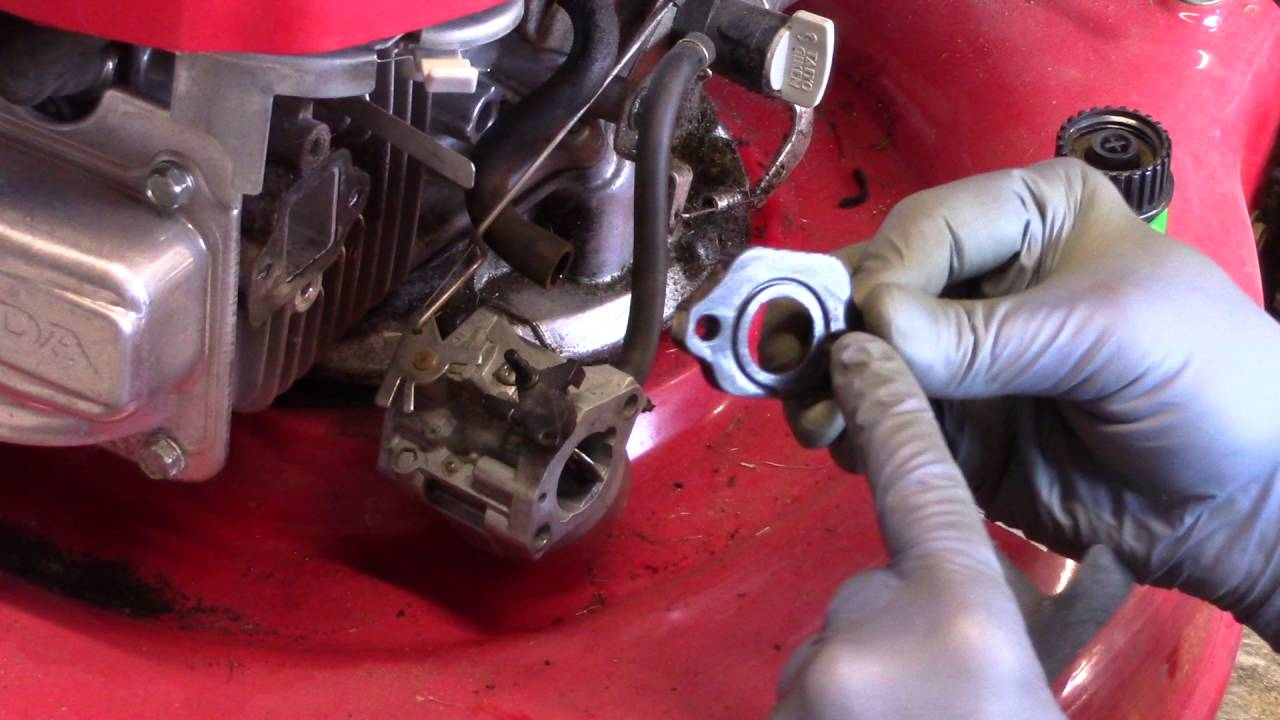 medium resolution of carb assembly on a honda gvc 160 lawn mower