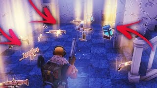 NEW SECRET LOOT SPOTS ! LEGENDARY SCARS + CHUG JUGS ! FORTNITE BATTLE ROYALE - SEASON 5
