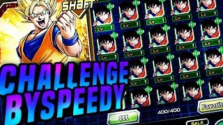 CHALLENGED BY SPEEDY! THE 100 GOKU FARM! HOW MANY WILL WORK? (DBZ: Dokkan Battle) thumbnail