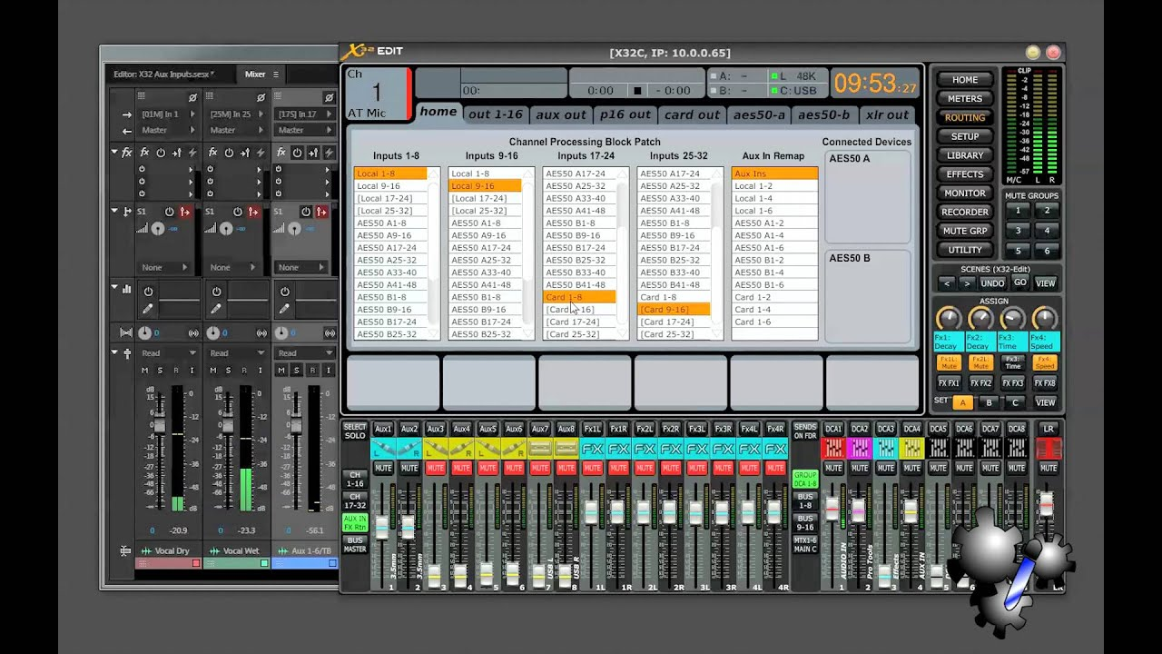 Record Aux Inputs into DAW on Behringer X32