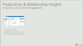 Microsoft Dynamics 365 for Sales productivity and relationship insights - BRK2117