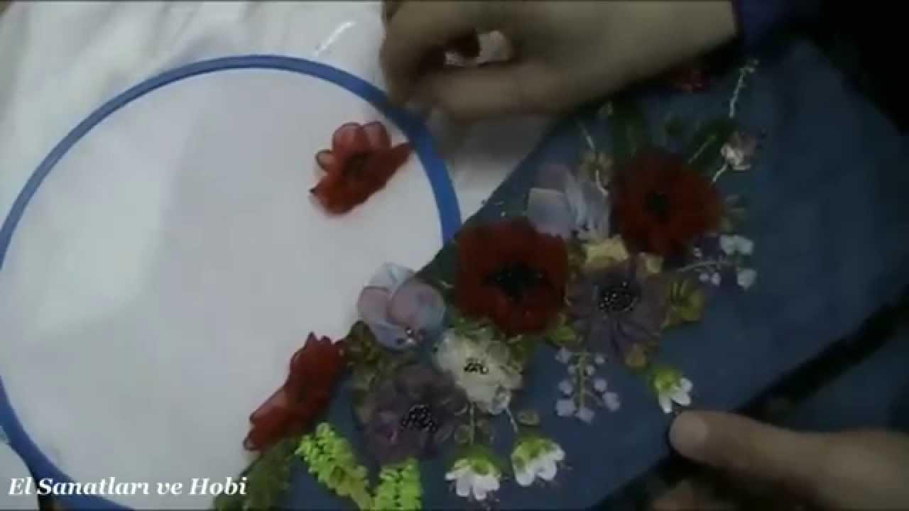 Havlu üzerine kurdele nakış videolu yapımı