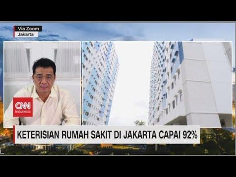 Keterisian Rumah Sakit Di Jakarta Capai 92 Persen