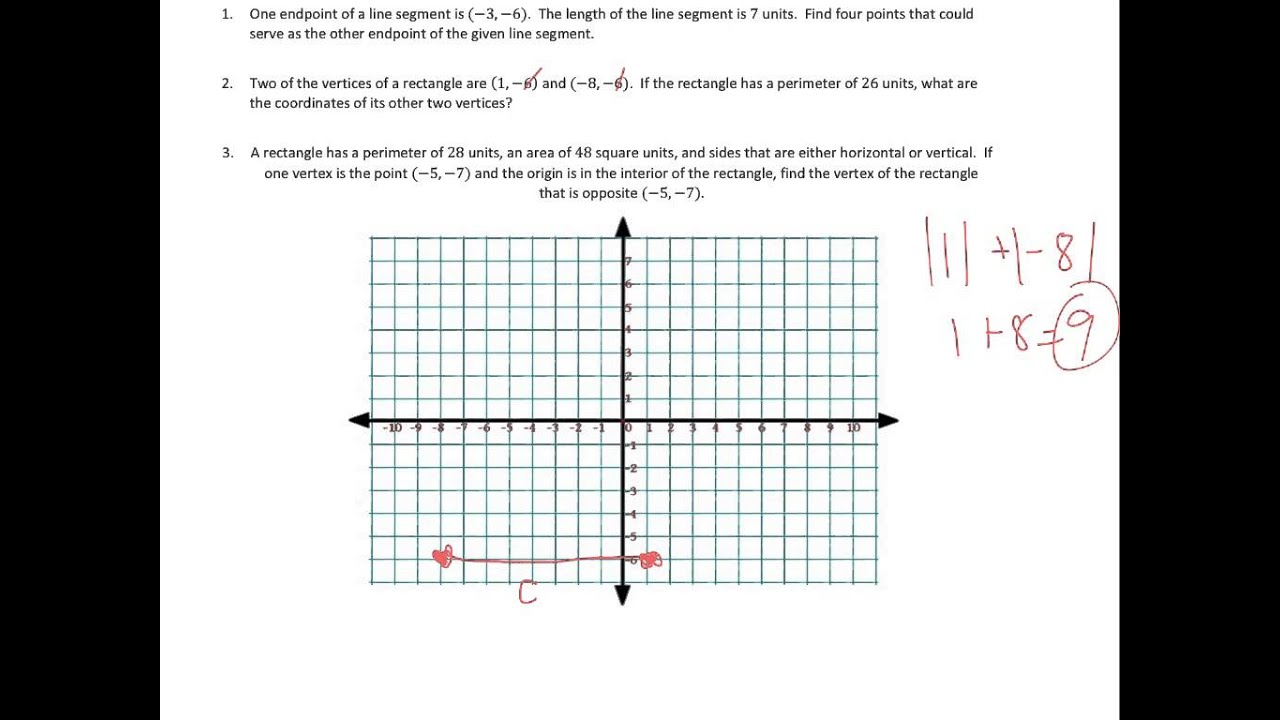 Problem Solving on the Coordinate Plane (solutions, examples