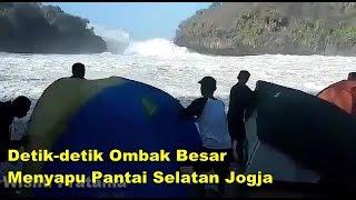 Download Video Detik-detik Ombak Besar Menyapu Pantai Selatan Jogjakarta MP3 3GP MP4