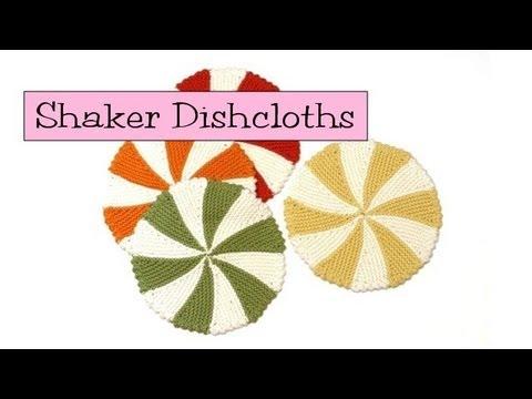 Knit Shaker Dishcloths Coasters Youtube
