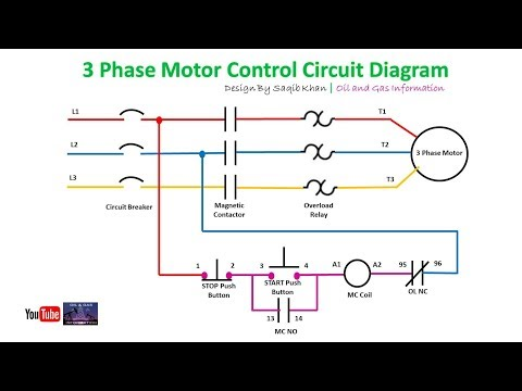 3 Phase Motor Control Circuit Diagram | Rig Electrician Training