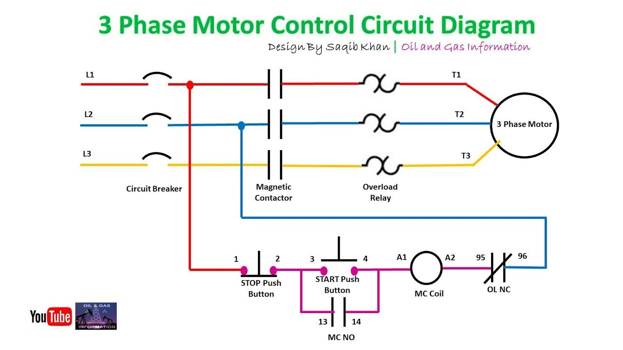 3 Phase Motor Control Circuit Diagram