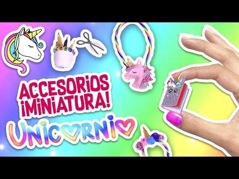 DIY 💖 Accesorios MINIATURA de UNICORNIO 🦄  - Manualidades Fáciles y Fantásticas