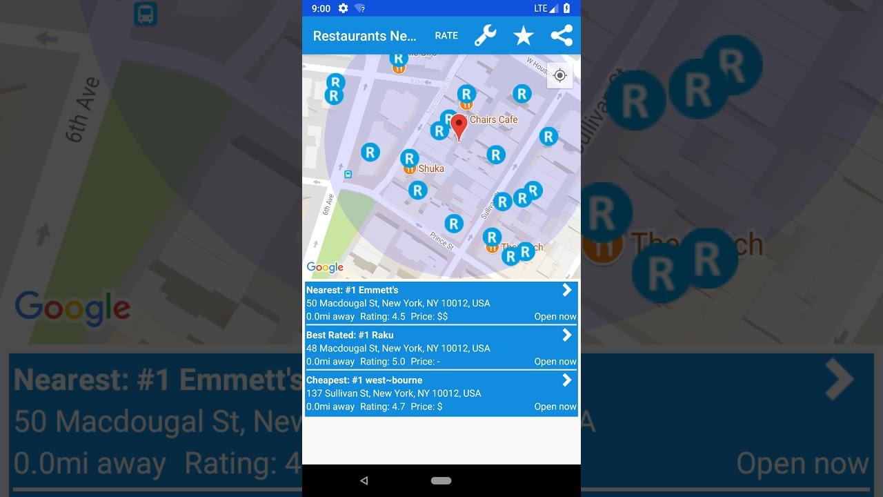 Restaurants Near Me by Ssann Tech - Android