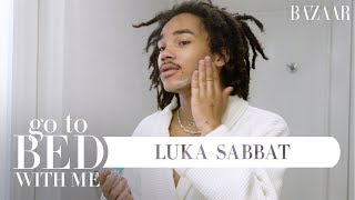Luka Sabbat's Nighttime Skincare Routine | Go To Bed With Me | Harper's Bazaar